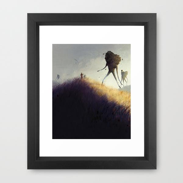 Earth Giants framed print